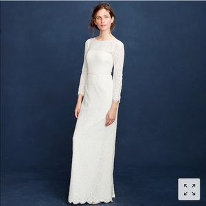 J. Crew Lace Wedding Gown